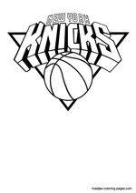 New York Knicks logo coloring pages