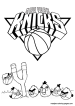 New York Knicks Angry Birds coloring pages