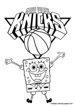 New York Knicks Spongebob coloring pages
