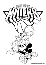 New York Knicks Disney coloring pages