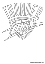Oklahoma City Thunder logo coloring pages