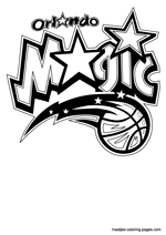 Orlando Magic logo coloring pages