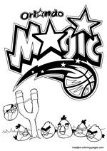 Orlando Magic Angry Birds coloring pages