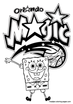 Orlando Magic Spongebob coloring pages