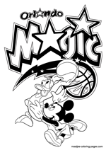 Orlando Magic Disney coloring pages