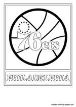 Philadelphia 76ers logo coloring pages