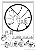 Philadelphia 76ers Angry Birds coloring pages