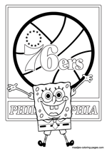 Philadelphia 76ers Spongebob coloring pages