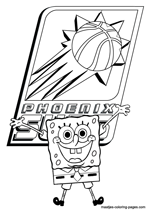 Phoenix Suns Spongebob coloring pages