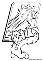 Phoenix Suns Super Mario coloring pages