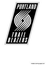 Portland Trail Blazers logo coloring pages