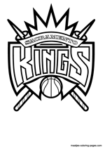 Sacramento Kings logo coloring pages