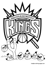 Sacramento Kings Angry Birds coloring pages