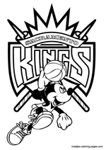 Sacramento Kings Mickey Mouse coloring pages