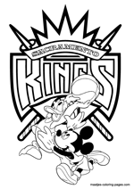 Sacramento Kings Disney coloring pages