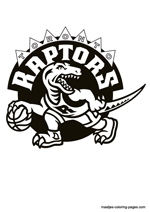 Toronto Raptors logo coloring pages