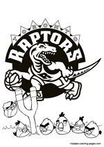 Toronto Raptors Angry Birds coloring pages
