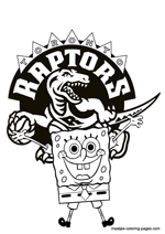 Toronto Raptors Spongebob coloring pages