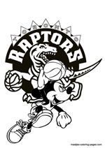 Toronto Raptors Mickey Mouse coloring pages