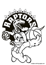 Toronto Raptors Super Mario coloring pages