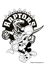 Toronto Raptors Disney coloring pages