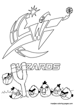 Washington Wizards Angry Birds coloring pages