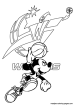 Washington Wizards Mickey Mouse coloring pages