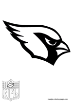 Arizona Cardinals Logo NFL Coloring Pages