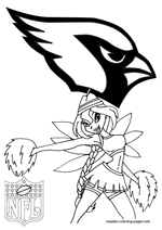 Arizona Cardinals NFL Coloring Pages