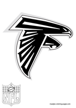 Atlanta Falcons Logo NFL Coloring Pages