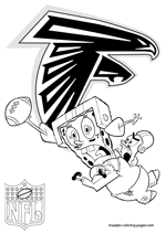Atlanta Falcons NFL Coloring Pages