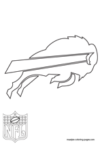 Buffalo Bills Logo NFL Coloring Pages