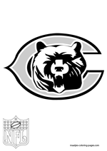Chicago Bears Logo NFL Coloring Pages