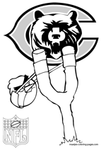 Chicago Bears NFL Coloring Pages