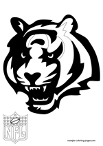 Cincinnati Bengals Logo NFL Coloring Pages