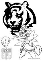 Cincinnati Bengals NFL Coloring Pages