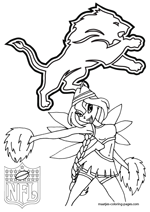Detroit Lions NFL Coloring Pages