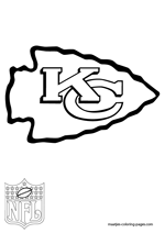 Kansas City Chiefs Logo NFL Coloring Pages