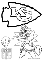 Kansas City Chiefs NFL Coloring Pages