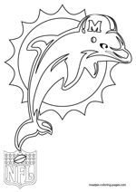 Miami Dolphins Logo NFL Coloring Pages