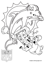 Miami Dolphins NFL Coloring Pages