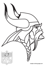 Minnesota Vikings Logo NFL Coloring Pages
