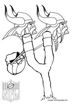 Minnesota Vikings NFL Coloring Pages