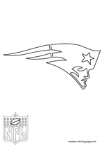 New England Patriots Logo NFL Coloring Pages