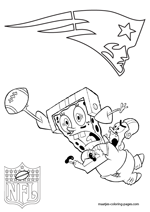 New England Patriots NFL Coloring Pages