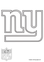 New York Giants Logo NFL Coloring Pages