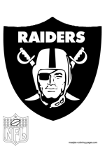 Oakland Raiders Logo NFL Coloring Pages