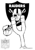 Oakland Raiders NFL Coloring Pages