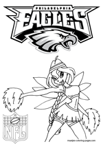 Philadelphia Eagles NFL Coloring Pages