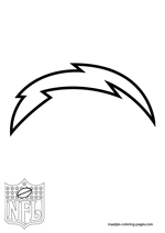 San Diego Chargers Logo NFL Coloring Pages